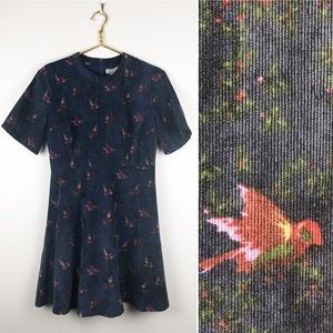 Anthropologie Ethereal By Paper Crane Birds Dress